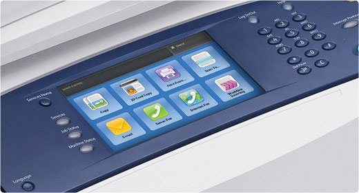 ConnectKey Multifunction Printers have large, easy menus