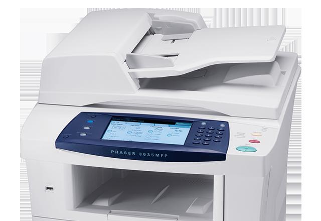 Phaser 3635mfp black and white multifunction printers xerox for Bureau 64 xerox