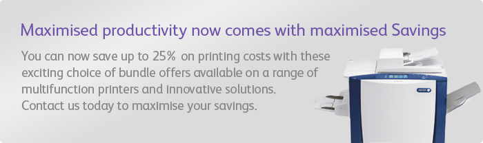 Xerox helps you save printing costs up to 25% and maximize your results so that you can focus on what you do best: your real business