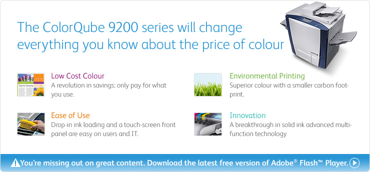 ColorQube dramatically lowers colour printing cost, making the cost of colour truly affordable.