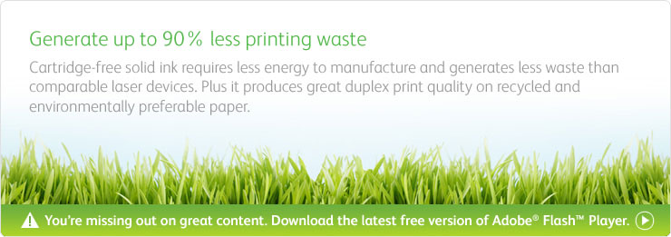 ColorQube solid ink technology means environmental printing is achievable to meet your sustainable printing requirements.