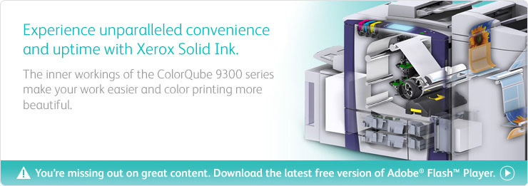 Innovative printing is now here with the ColorQube advances in color multifunction technology.