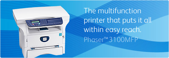 Phaser 3100MFP - The multifunction printer that puts it all within easy reach