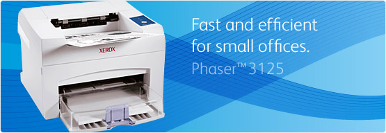 Phaser 3125 - Fast and efficient for small offices