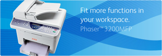 Phaser 3200MFP - Fit more functions in your workspace
