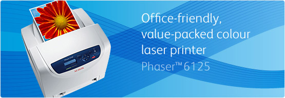 Phaser 6125 - Office-friendly, value-packed colour laser printer