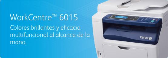WorkCentre 6015 - Colores brillantes y eficacia multifuncional al alcance de la mano.