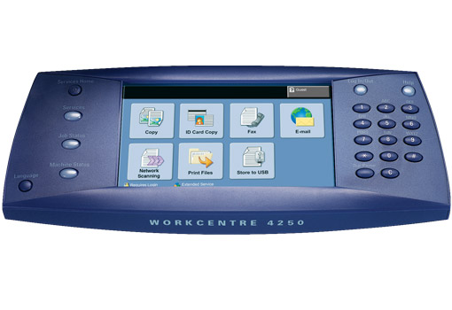 WorkCentre 4250 Full Color Touch Screen